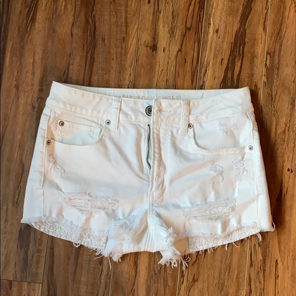 American Eagle Outfitters Pants - White American Eagle Shortie Shorts